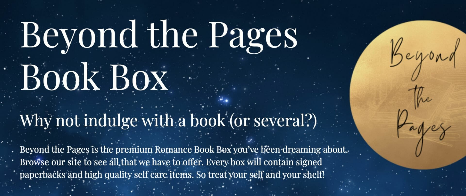 Beyond The Pages Book Box